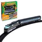 Железная дорога «Экспресс», со световыми эффектами, протяжённость пути 3,6 м - Фото 1