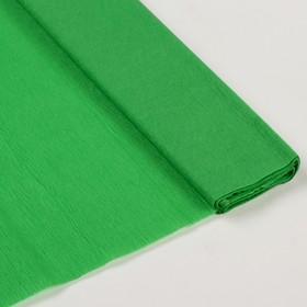 Бумага крепированная 50*200см плотность-32 г/м в рулоне Зеленая (80-10) Ош