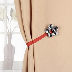 Подхват для штор «Цветок ромашка», d = 6 см, цвет бордовый Ош
