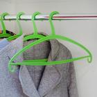 Вешалка-плечики 41×22×0.7 см, цвет зелёный