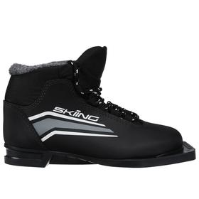 Ботинки лыжные TREK Skiing1 NN75 ИК, цвет чёрный, лого серый, размер 40