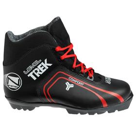 Ботинки лыжные TREK Level 2 NNN ИК, цвет чёрный, лого красный, размер 45
