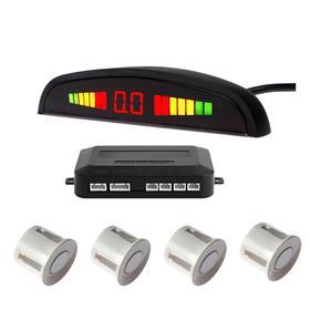 Парковочная система TORSO, 4 датчика, LED-экран, 12 В, датчик белый Ош