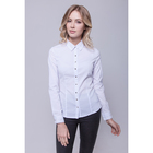 Рубашка женская, цвет белый/серебро, размер 50