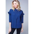 Рубашка женская, цвет тёмно-синий, размер 42