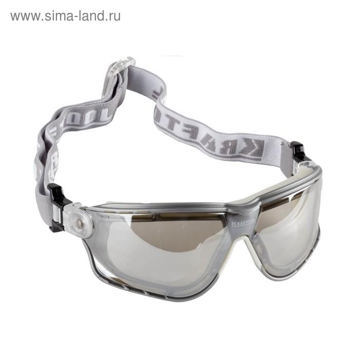 Очки защитные KRAFTOOL EXPERT 11009, с непрямой вентиляцией, поликарбонатная линза