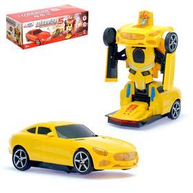Машина «Автобот», трансформируется, световые и звуковые эффекты, работает от батареек, цвета МИКС Ош