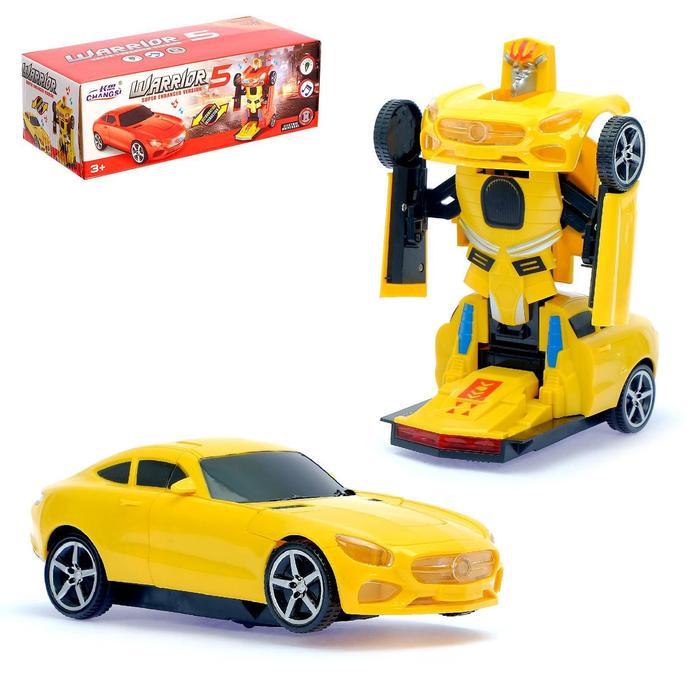 Машина «Автобот», трансформируется, световые и звуковые эффекты, работает от батареек, цвета МИКС