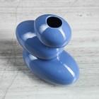 """Ваза """"Сбалансированные камни"""", синий цвет, 21 см, керамика - Фото 2"""