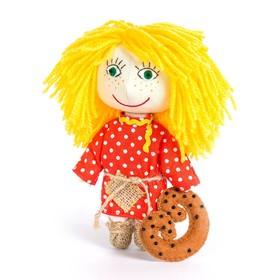 """Набор для изготовления игрушки из льна и хлопка с волосами из пряжи """"Домовёнок"""", 15,5 см"""