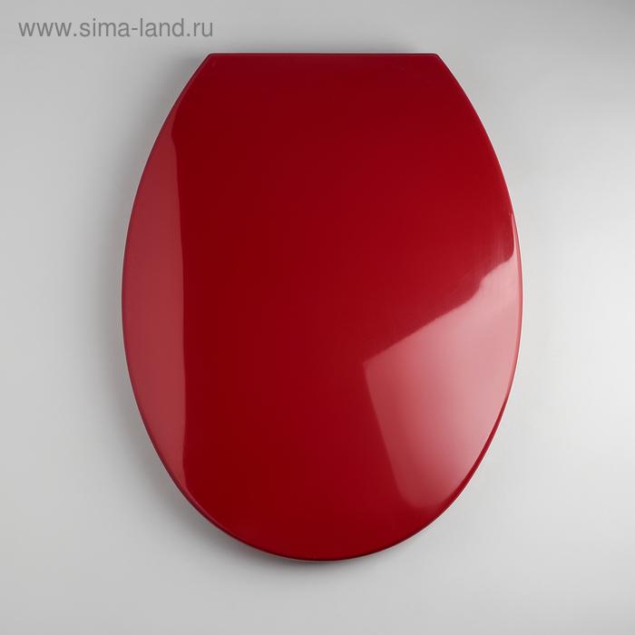 Сиденье для унитаза с пластиковыми креплениями «Евро», цвет вишня