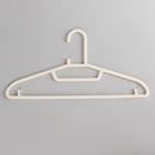 Вешалка-плечики для одежды, размер 44-46, цвет молочный