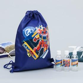 Набор для баcсейна «Робот»: сумка, бутылочки для шампуней Ош