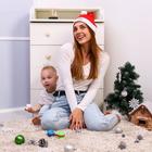 Новый год, подарочный набор для мамы и ребёнка «Новогоднее чудо», 2 предмета: колпак новогодний + погремушка - Фото 7