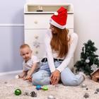Новый год, подарочный набор для мамы и ребёнка «Наша красавица», 2 предмета: колпак новогодний + погремушка - Фото 7