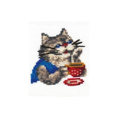 Набор для вышивания «Кот-мечтатель» - Фото 1