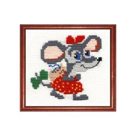 """Набор для вышивания """"Мышка в бантах"""""""