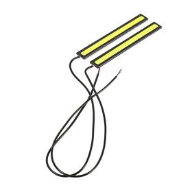 Дневные ходовые огни TORSO 1 LED-COB, 12 Вт, 2 шт, 142мм, металл, корпус черный Ош
