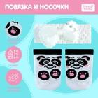 Повязка и носочки для пупса «Панда»