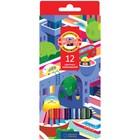 Карандаши 12 цветов Koh-I-Noor 3552, Город мечты, картонная коробка
