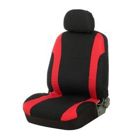 Авточехлы на сиденья TORSO Premium универсальные, 9 предметов, чёрно-красный AV-17