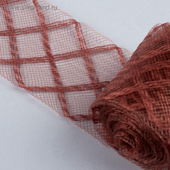 Регилин плоский, клетка, 45мм, 5±1м, цвет коричневый