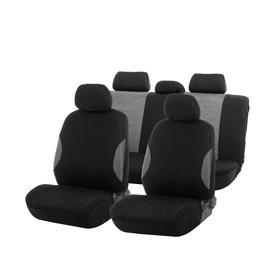 Авточехлы TORSO Premium универсальные, 9 предметов, чёрно-серый AV-19 Ош