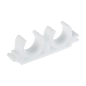 Опора двойная VALFEX, полипропиленовая, d=20/22 мм