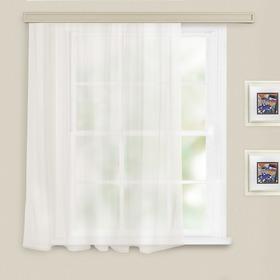 Штора однотонная, размер 140х145 см, цвет белый, вуаль Ош
