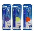 Набор шариковых ручек «Пиши-стирай» Tratto Ftratto Cancellik + ластик, синие чернила, 2 штуки