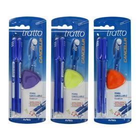 Набор ручек «Пиши-стирай» шариковых 2 шт. Tratto Ftratto Cancellik + ластик, стержень синий 41701