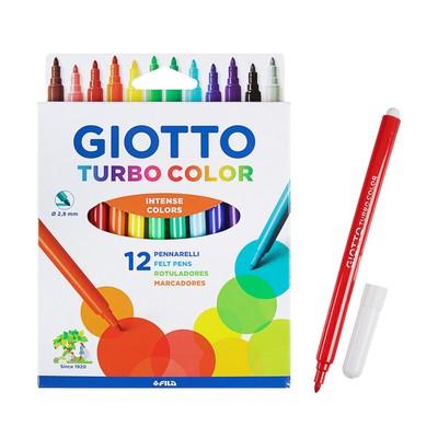 Фломастеры 12 цветов GIOTTO Turbo Color 2.8 мм 71400