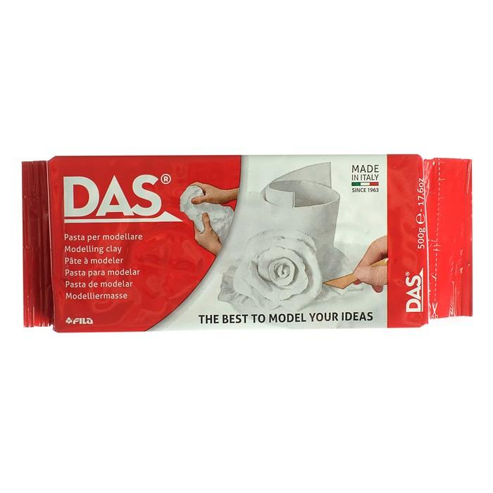 Паста для моделирования отвердевающая на воздухе Das, 500 г, белая