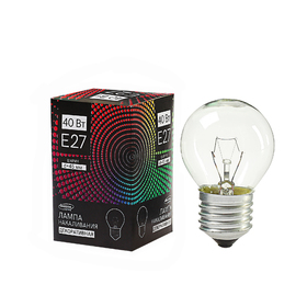 Лампа накаливания Luazon Lighthing E27, 40W, для белт лайта, прозрачная, 220 В Ош
