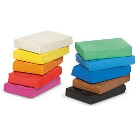 Пластилин мягкий (восковой) 10 цветов 500 г GIOTTO PONGO классические цвета 51080