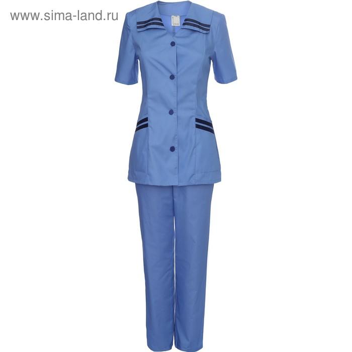 Костюм медицинский модель 28, женский, размер 54, рост 170-176 см, цвет синий