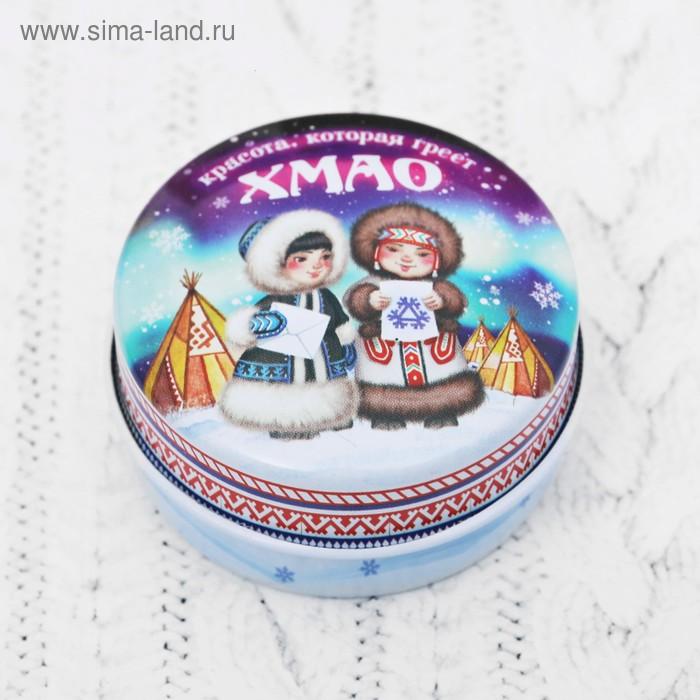 """Свеча в баночке """"ХМАО"""",  4,4 см"""