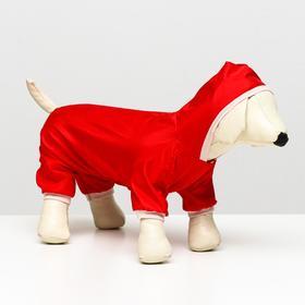 Комбинезон  для собак, размер XL (ДС 32-34 см, ОШ 32 см, ОГ 46-48 см), красный Ош