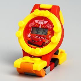 Часы наручные лего, Тачки, с ремешком-конструктором Ош