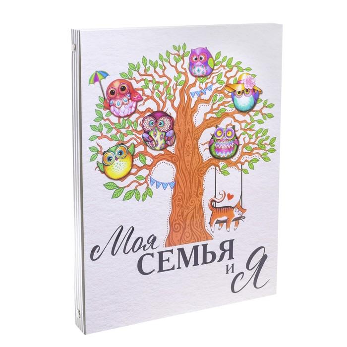 Детская родословная папка «Совы», 16 листов, 24,5 х 32 см