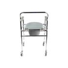 Кресло-туалет WC Mobail, с санитарным оснащением, с колёсами