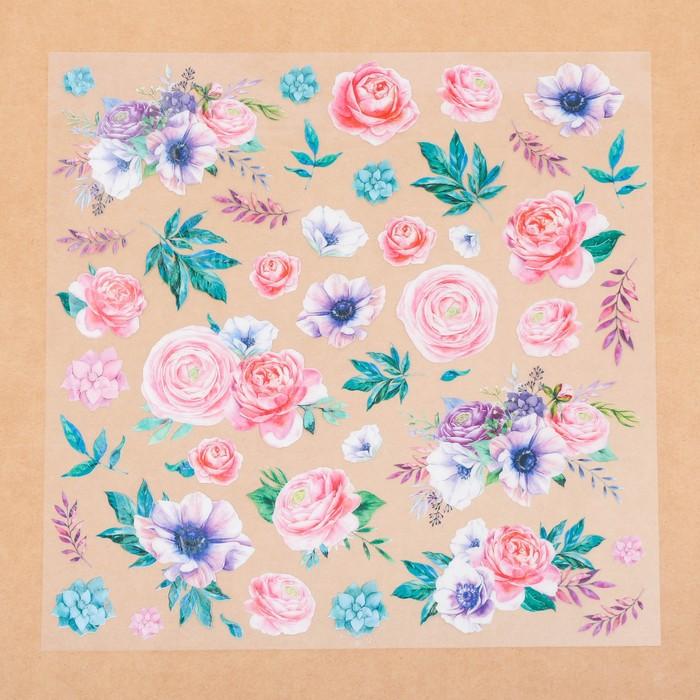 Ацетатный лист «Цветочная галерея», 30.5 × 30.5 см