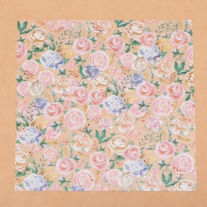 Ацетатный лист «Букет невесты», 30,5 × 30,5 см