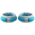 Утяжелители-браслеты неопреновые, дробь, 2 × 0,1 кг, цвет голубой