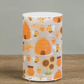 Ночник пластик 'Медовые пчёлы' от батареек CR2032х1 7,1х7,1х11,3 см Ош