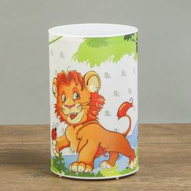 Ночник пластик 'Лев и обезьяна' от батареек CR2032х1 7,1х7,1х11,3 см Ош
