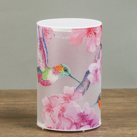 Ночник пластик 'Колибри и цветы' от батареекCR2032х1 7,1х7,1х11,3 см Ош