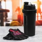 "Набор ""Sport"", перчатки 9 х15 см, шейкер 600 мл"
