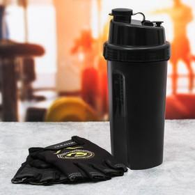 Набор для тренировок «Extreme»: шейкер 600 мл, перчатки 9 × 15 см