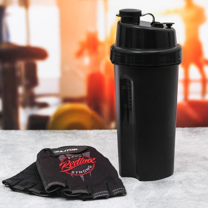 Набор для тренировок «Readline»: шейкер 600 мл, перчатки 11 × 15 см